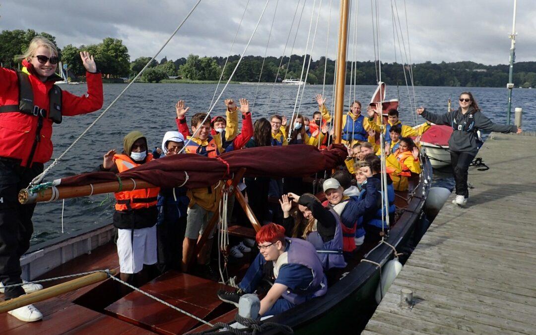 Segel-Klassenreise 9d beim CVJM Ratzeburg